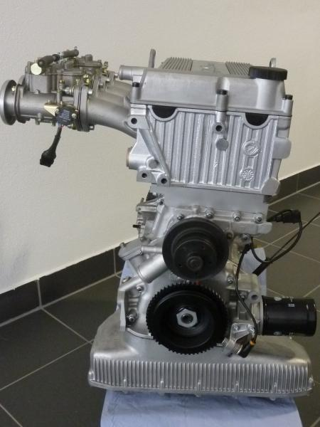 Motor TS Vergaser komplett